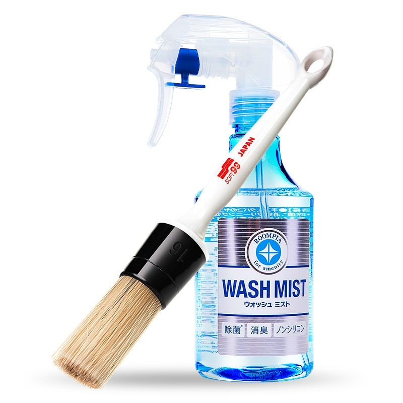 Wash mist with brush